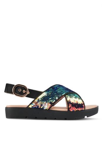 Something Borrowed multi Cross Strap Platform Sandals 0799DSH83F498BGS_1