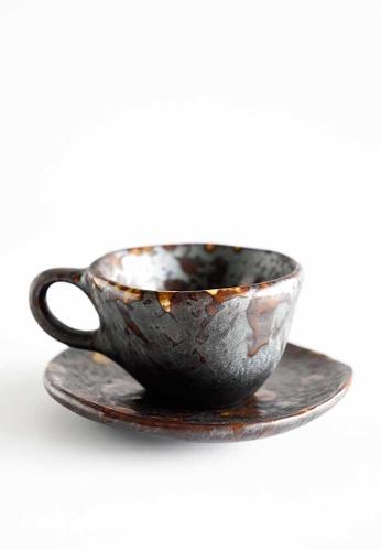 KRA Sanctuary grey Charcoal Grill Espresso Set FC557HLC0B35F0GS_1
