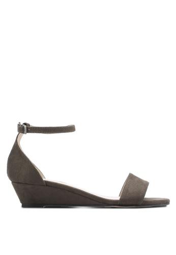 ZALORA green Low Wedge Sandals 05D34SHD3CB082GS_1