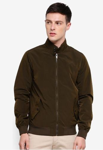 Burton Menswear London 綠色 賽車外套 54100AA3D10CBBGS_1
