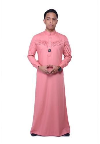 Maribeli Butik pink MB Man Jubah Qhalees 08 Peach MA905AA28LUPMY_1