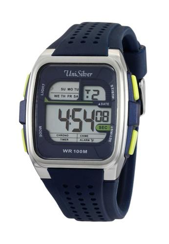 UniSilver TIME blue Vin Abrenica's Sportsman Rubber Watch UN802AC31BGUPH_1