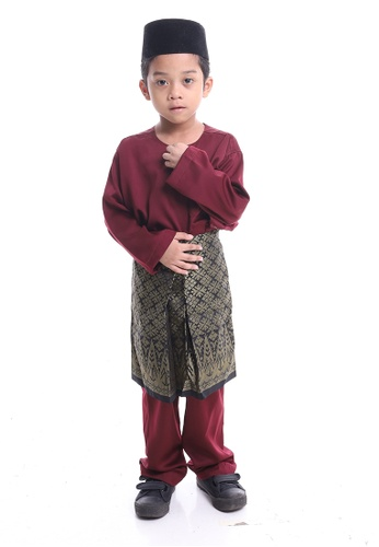 Denai Boutique red Baju Melayu Anas 1CE57KAAD8E7ACGS_1