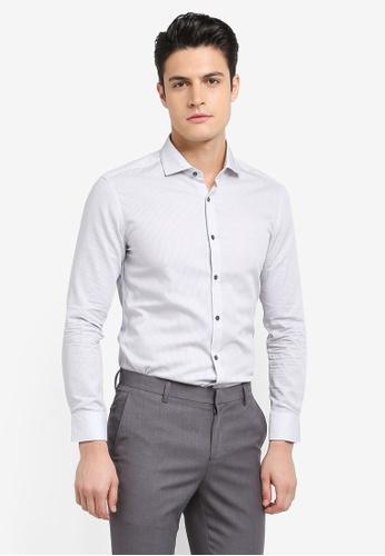 G2000 grey Pattern Cotton Long Sleeve Shirt 418A4AA2083963GS_1