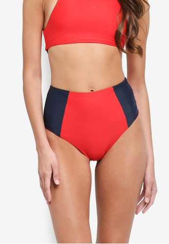 Jack Wills red Sandsend High Waisted Bikini Bottoms 0EB77US17F5543GS_1