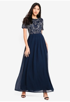 Angeleye navy Laura Navy Embellished Dress 562CAAA1B3F2D1GS 1 433543073