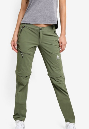 Odlo green Zip-Off Engage Pants OD608AA26KARMY_1