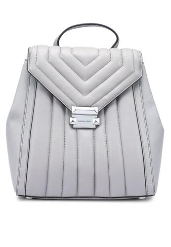Michael Kors grey Whitney Medium Backpack (oc) CBDF0ACEDC4FC1GS_1