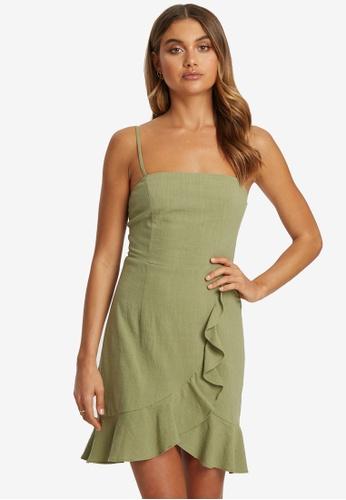 Savel green Winslow Dress A0937AABF851DCGS_1