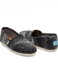 24960e68885 TOMS TOMS - Classic Alpargata Classic Grey Black Textured Wool WM RM  299.00. Sizes 5