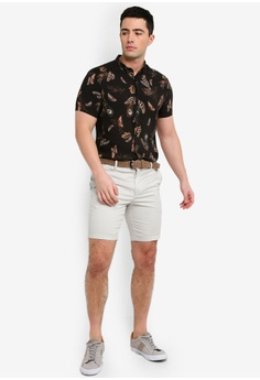 b274130446f 14% OFF River Island Axis Belted Shorts Pebble S  49.90 NOW S  42.90  Available in several sizes