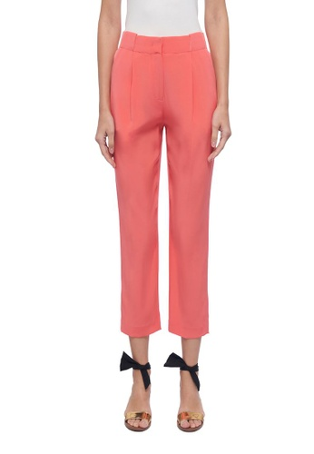 CK CALVIN KLEIN pink Satin Back Crepe Pants B96D2AA1F68145GS_1