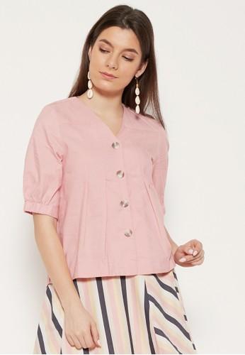 Shiny pink Shiny Pink Blouse 52-0045 06FD7AA31ECC6BGS_1