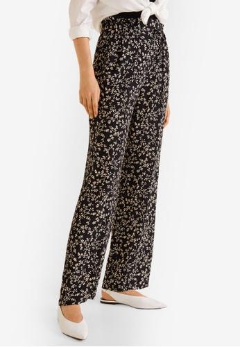 Mango black Floral Print Trousers 46F88AA45A3713GS_1