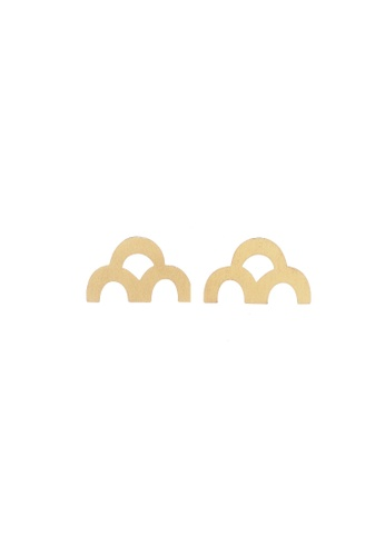 WASIS gold SIOSE Handmade Gold-Plated Brass Stud Earrings 5E2CAACF57EBECGS_1