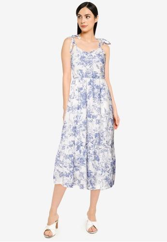 GAP white V Neck Cami Midi Dress 9396FAA69632ACGS_1