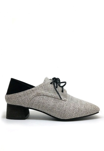 Twenty Eight Shoes grey Tweed Low Heel Oxford 2018-21 C0596SHF8C8B3BGS_1