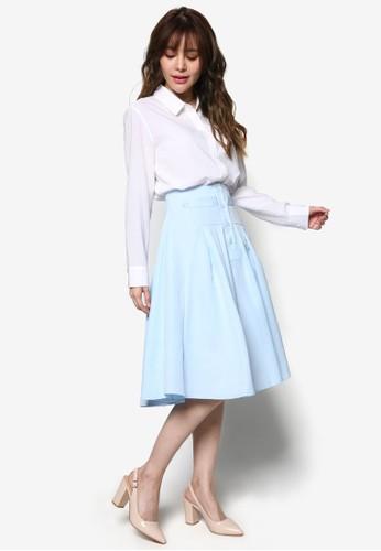 A字閃亮及膝裙, 服飾esprit台灣, 裙子