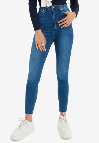 Trendyol blue Blue High Waist Skinny Jeans F4F8FAA7FB774AGS_1