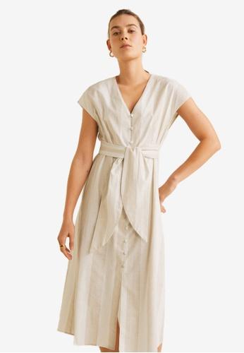 80cebecf063e Shop MANGO Striped Cotton Dress Online on ZALORA Philippines