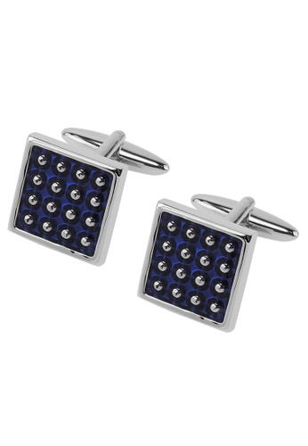 CUFF IT blue Blue Enamel Dotted Cufflinks CU047AC2UQPWHK_1