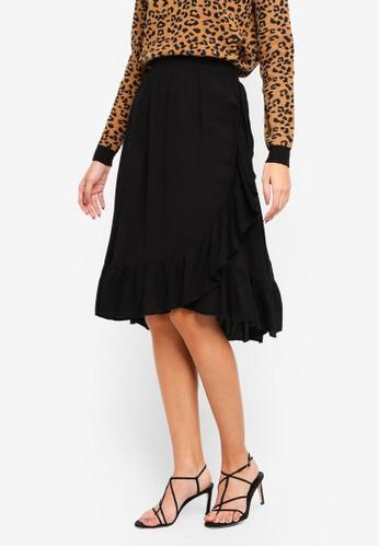 Vero Moda black Leo Wrap Skirt B88E2AAA85546DGS_1