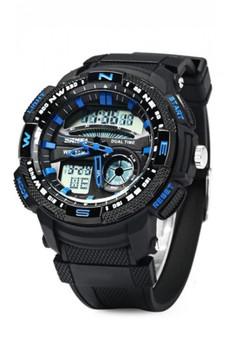 50M Waterproof Double Movement Sports Digital Watch