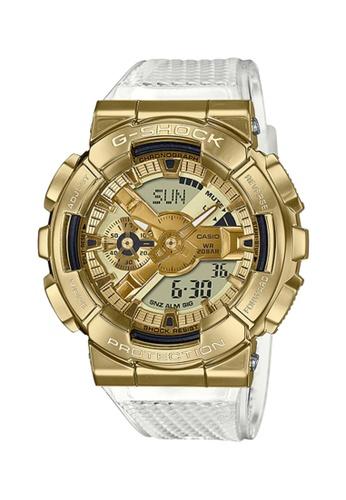 G-shock white Casio G-Shock Men's Analog-Digital GM-110SG-9ADR White Resin Band Sport Watch DB573AC0E1D326GS_1