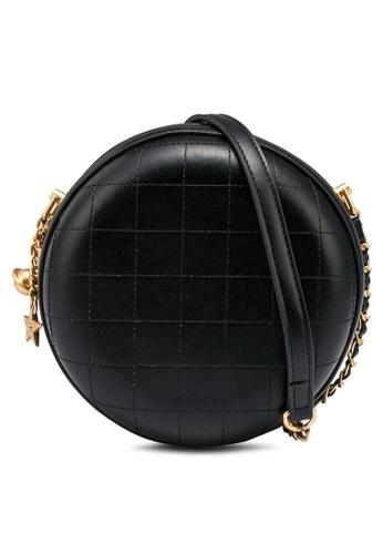 nose black Round Shape Crossbody Bag 85F6EACB0048BEGS_1