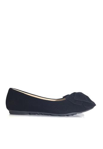 Twenty Eight Shoes 黑色 空氣感蝴蝶結平底鞋 VL1323 CC477SH650537AGS_1