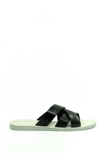 Kenneth Cole New York black and white GET REEL - Slide Sandal KE615SH16AEHMY_1