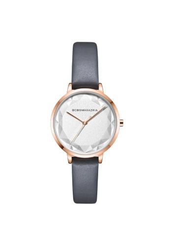 BCBG grey BCBGMAXAZRIA BG51136008 Rose Gold and Grey Leather Watch 3630AAC3268704GS_1