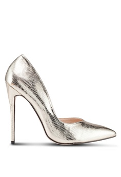 361bf9180c4 Public Desire gold Sachi Stiletto Court Heels 18CB8SH289591DGS 1