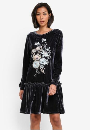 Glamorous navy Velvet Dress GL059AA0S7PVMY_1