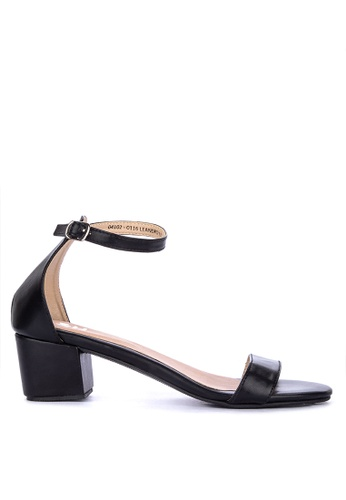 S&H black Leandro Heeled Sandals A95C9SH71226A6GS_1