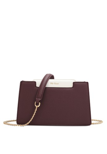 Wild Channel purple Chained Strap Rectangle Bag 5B8ADAC822DBFCGS_1