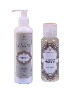 Moroccan Argan Oil Hair Serum 60ml (Elite) with Moroccan Argan Oil Conditioner 250ml (Elite) Bundle