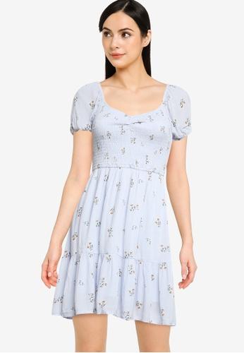 Hollister blue Chain Short Dress 189D5AAE2C40FDGS_1