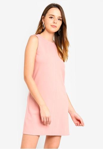 ZALORA pink Stitch Detail Dress FD65EAAEC966F3GS_1