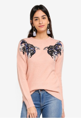 Vero Moda pink Pacal O-neck Sweater 8ED18AABE2003AGS_1