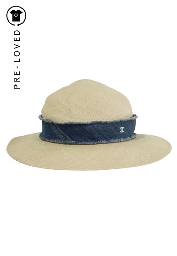 Chanel beige Pre-Loved chanel Straw Hat 8996CAC59BFE87GS_1
