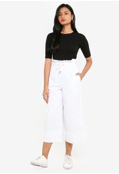 98641241b82a 60% OFF TOPSHOP Moto Draw Tie Cropped Wide Leg Jeans S  79.90 NOW S  31.90  Sizes 26R 26S 28R 28S