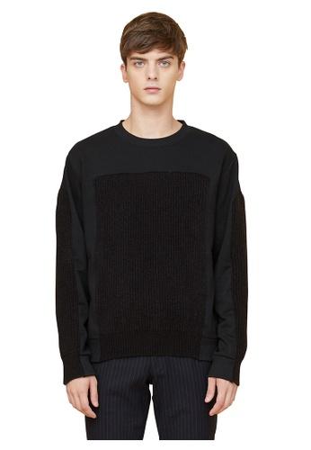 MILLOGREM black Voll Knit Sweatshirts MI241AA0GE69SG_1