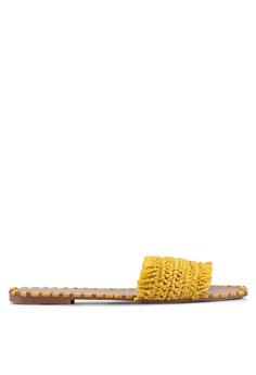 81846ae7b74dd ALDO yellow Ybaolla Open Toe Straw Sandals 589CDSH72F5680GS 1