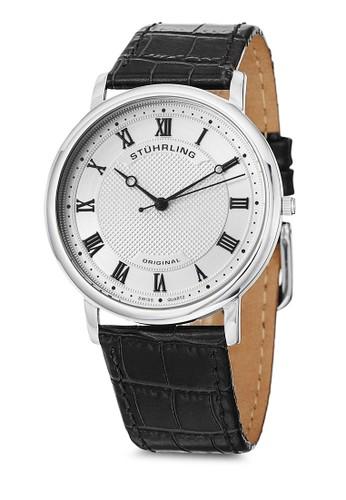Classique 645zalora 台灣門市 羅馬數字真皮手錶, 錶類, 皮革錶帶