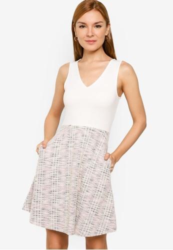 ZALORA WORK multi Contrast Tweed Fit & Flare Dress 4D5C3AA7D261C9GS_1