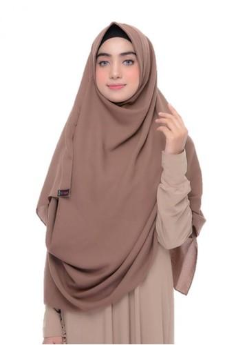 First Hijab brown Alika Pashmina Instant In Brown 9A130AA81C59ADGS_1