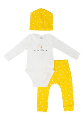 LC Waikiki yellow 3-Pack Newborn Organic Cotton Suit Set 65CBBKA9519304GS_1