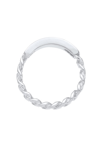 ELLI GERMANY silver Plate Curb Chain Ring D091EAC39BFB41GS_1