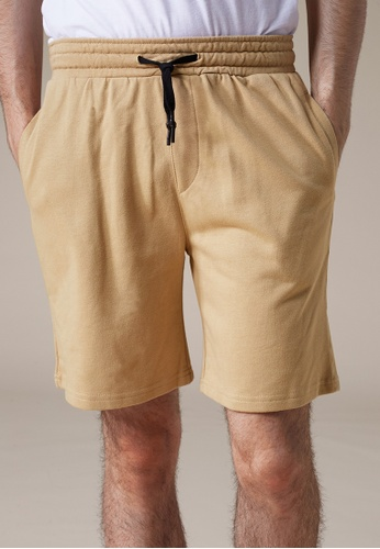 Life8 brown Casual  Cooling Cotton Shorts-02415-Khaki LI283AA0FFIHSG_1